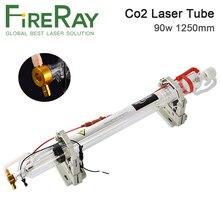 Стеклянная Лазерная Co2 трубка FireRay 90 Вт диаметром 1250 мм, стеклянная Лазерная лампа 80 мм для лазерной гравировальной машины CO2