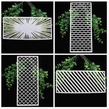 Zfparty 4 pçs slimline estênceis em camadas para diy scrapbooking/álbum de fotos decorativo gravando diy cartões de papel artesanato