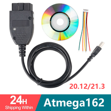 VAG COM 20,4 VAGCOM 20.4.2 HEX puede interfaz USB para VW AUDI Skoda Seat VAG 19,6 Multi idioma ATMEGA162 + 16V8 + FT232RL