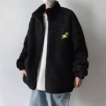 Cordeiros lã oversized zíper com capuz cardigan feminino inverno casais usar mais veludo grosso casaco de cordeiro lã moletom feminino