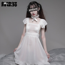 Japanese Cute Sexy Lace Costumes Women Cosplay Maid Uniform with Choker Lenceria Woman Lingerie Hot Babydoll Chemise Pajamas