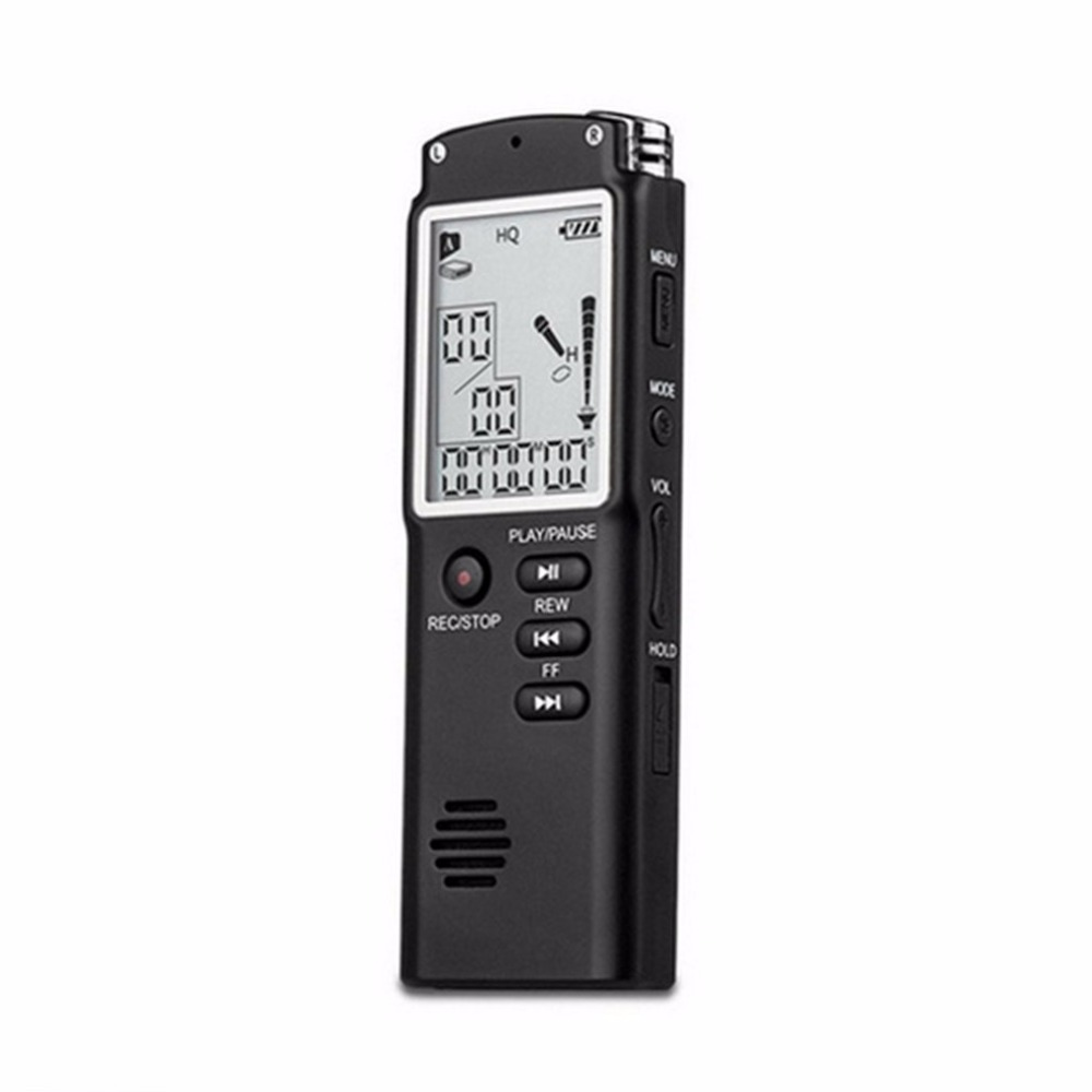 Mini T60 8GB 16GB Professional Voice Recording Device Time Display Screen Digital Voice Audio Recorder Dictaphone MP3 Player