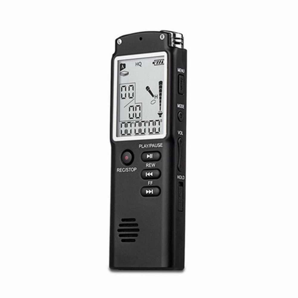 Mini T60 8Gb 16GB Profesional Rekaman Suara Waktu Perangkat Display Layar Suara Digital Audio Recorder Dictaphone MP3 Pemain