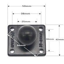 Quadrato di Alluminio Base di Montaggio con Testa a Sfera per La Ram Mount per Garmin Zumo/Tomtom
