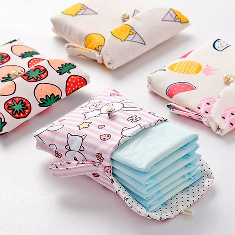 Women Girl Cosmetic Earphone Earbud Organizer Mini Purse Coin Key Holder Women Travel Napkin Zipper Bags