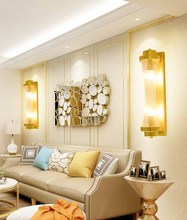 BOKT Modern Lustre Crystal Wall Lamp Bedroom Rotatable Led Lights Fixtures Living Room Sconce