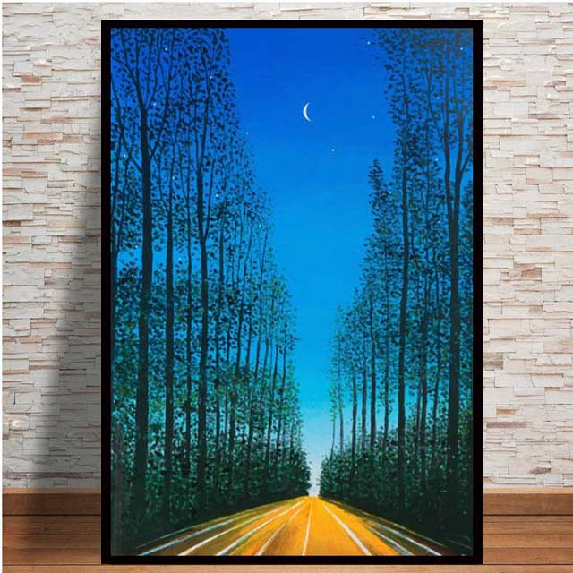 Nordic Road To Heaven Art Creative Canvas Drawing Living Room Room Decoration Painting Prints wall art(China)