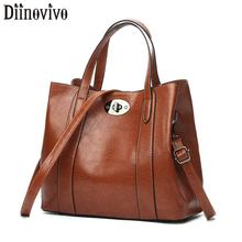 цена на DIINOVIVO Retro Women Handbags Vintage PU Leather Bag Preppy Satchel For Girls Fashion Women Messenger Bags Totes Bag WHDV1233