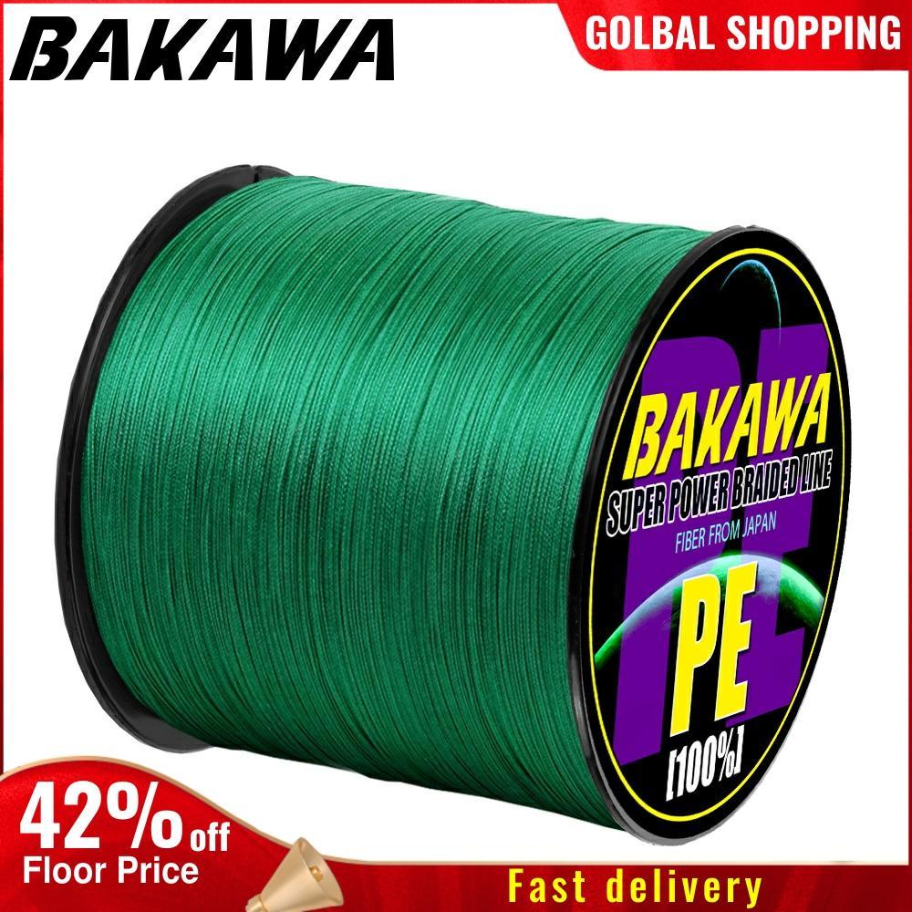 BAKAWA 4 плетеная леска Длина: 300 м/330yds диаметр: 0,2 мм-0,42 мм, размер: 10-85 фунтов Япония PE плетеная леска плавающая леска 1