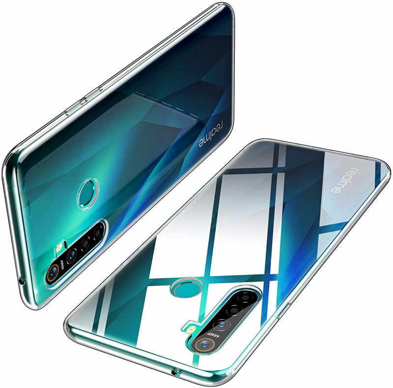 Clear สำหรับ OPPO Realmi 5I กรณีโปร่งใสกลับนุ่มสำหรับ OPPO Realme5i 5 Pro Realme 5 S ซิลิโคนโทรศัพท์กรณี