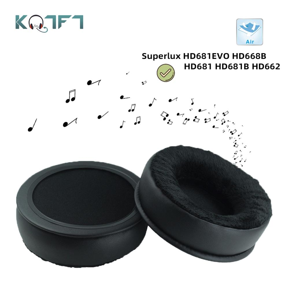 KQTFT Velvet Replacement EarPads for Superlux HD681EVO HD668B HD681 HD681B HD662 Headphones Parts Earmuff Cover Cushion Cups