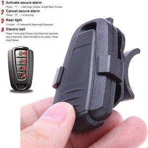 Image 5 - 4 In 1 Anti theft Bike Security Alarm Wireless Remote Control Alerter Taillights Lock Warner Waterproof Bicycle lamp Accessories
