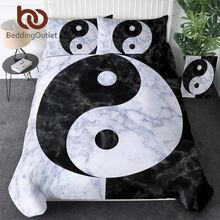 BeddingOutlet – ensemble de literie Tai Chi Yin ang Yang, housse de couette en marbre, ensemble de literie Paisley King