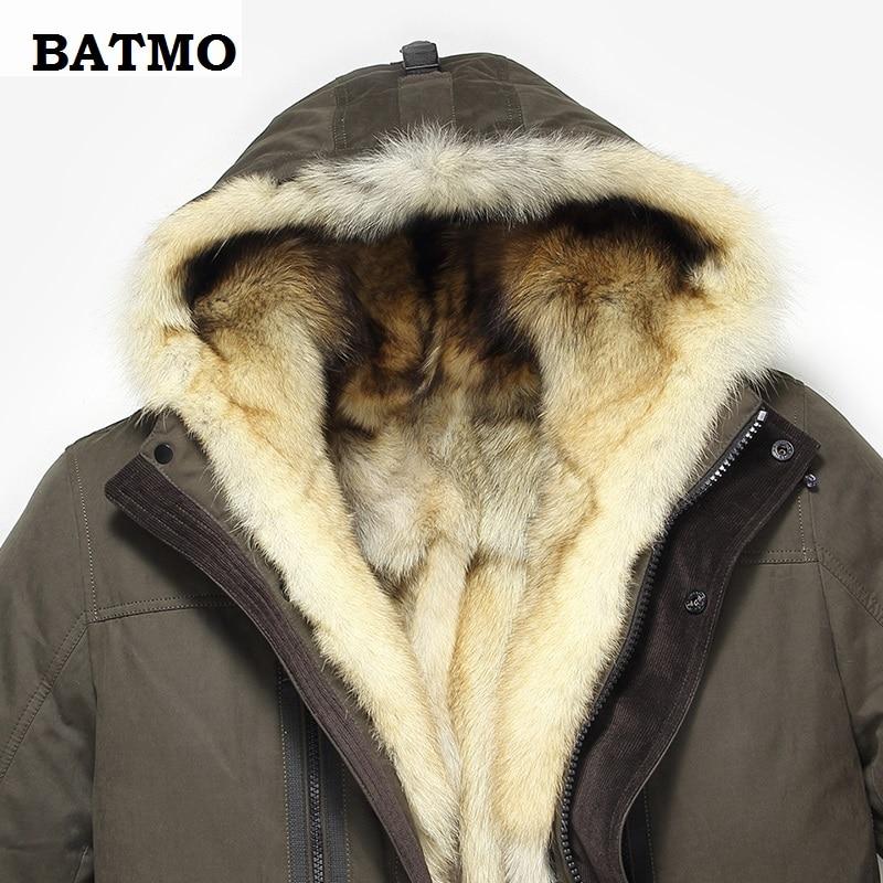 He4938c5d2a6f479da540404541f4f93fY Batmo 2019 new arrival winter high quality warm wolf fur liner hooded jacket men,Hat Detachable winter parkas men 1125