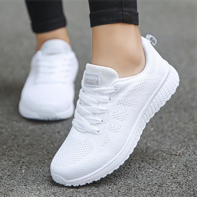 2020 New Women Shoes weightlight Sneakers Women Vulcanize Shoes Sport Basket Femme Walking White Outdoor Casual Tenis Feminino 4