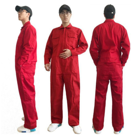 Mens Coverall Overall Boilersuit Mechanic Protective One-piece Workwear Jumpsuit Electric Welding Cotton B76