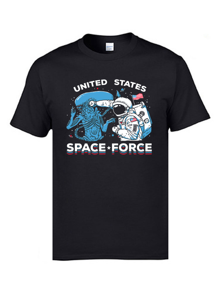 Occupy Space Research Tshirts United States Space Force Mens Cool T Shirts Cheap 100% Cotton Simple Style T-Shirt Astronaut