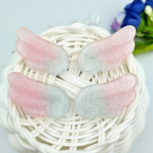Angel-Wings Scrapbook-Embellishment Glitter Phone-Deco Kawaii Flatback Resin Cabochon