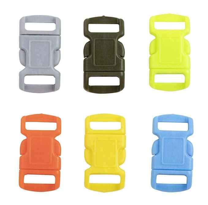 Kit-Jig Bracciale Maker con 6 del Cavo Dei Paracadute e 6 Cordini di sicurezza Fibbie, wristband Cordini di sicurezza Intrecciare I Tessitura Strumento FAI DA TE per i bambini