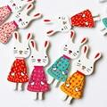 20 шт., деревянные подвески в виде кролика