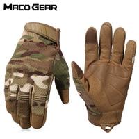 Multicam Camo Tactische Handschoenen Militaire Combat Airsoft Fiets Outdoor Fietsen Schieten Paintball Jacht Volledige Vinger Handschoen|Wandelhandschoenen|   -