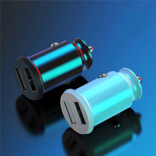 цена на Dual USB Car Charger 5V3.1A Fast Charing 2 Port USB 12-24V Car Cigarette Socket Lighter For Car USB Charger Power Adapter