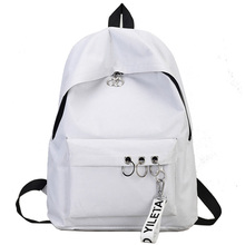 Simple Casual Backpack Solid Color Backpack Female Bag Canva