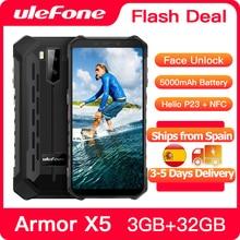 Ulefone Rüstung X5 Robuste Smartphone Android 10 Octa core NFC IP68 3GB 32GB 5000mAh Handy 4G LTE Wasserdichte Handy