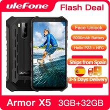 Ulefone Wytrzymały telefon komórkowy Armor X5 3GB 32GB 4G LTE, komórka, Android 10, osiem rdzeni, ośmiordzeniowy, NFC, IP68, 5000 mAh, wodoodporny