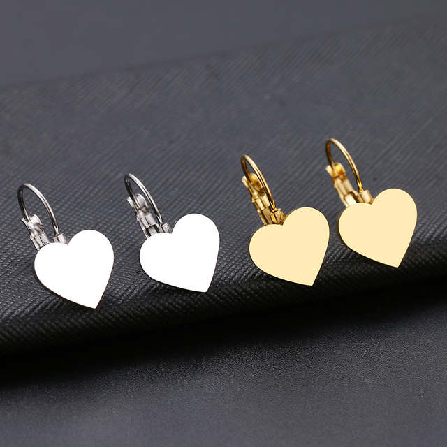 Fashion Earring World Map Pineapple Love Heart Star Small Geometric Gift For Women Party Alentine s.jpg 640x640 - Fashion Earring World Map/Pineapple/Love Heart/Star Small Geometric Gift For Women Party Alentine's Day Stainless Steel Jewelry