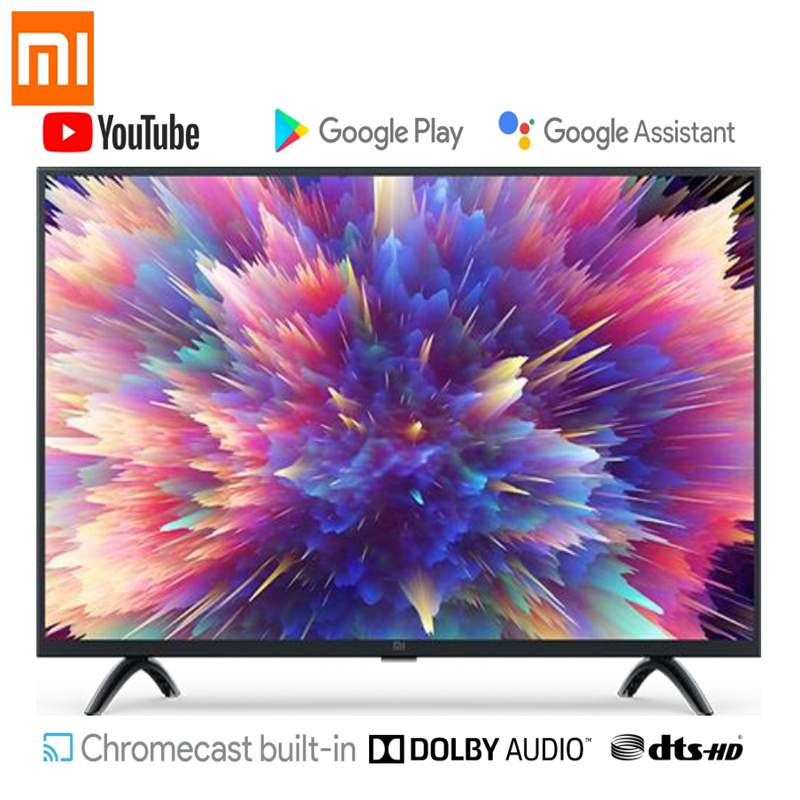 Xiaomi Mi Smart TV 32 Inch 1GB RAM 8GB ROM 64-bit Quad Core Android 9.0 HD TV Television International Version WIFI USB HDMI