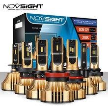 Лампы светодиодсветодиодный NOVSIGHT, лампы для головных фонарей, 72 вт, 12000 лм, H4, H7, H11, H8, HB4, H1, H3, HB3, H13, HB5, золотистые