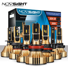 NOVSIGHT 72W 12000LM H4 LED Headlights H7 H11 H8 HB4 H1 H3 HB3 H13 HB5 Car Led Bulbs Headlight Control Driver Golden Car Lamps