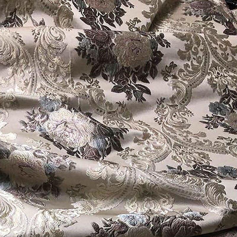 Livraison gratuite rideau dentelle rideau en gros bureau tissu couverture murale broderie tissus pour mariage draperie fenêtre couverture luxueux