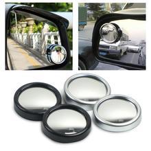 2 шт. 360 градусов зеркало для слепой зоны для заднего хода автомобиля Бескаркасный ультратонкий Широкий формат круглое выпуклое зеркало зад...