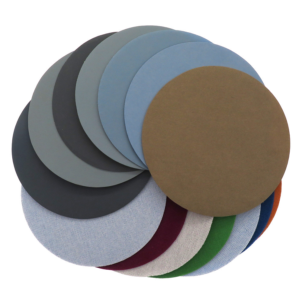 6-Inch 150mm Riken Flocked Round Plates Waterproof Abrasive Paper Bodhi Polishing Sand Wet And Dry Dual Purpose Mill Wet Grindin