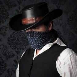 Steampunk diy western cowboy hat handmade leather diy hat leather fisherman hat