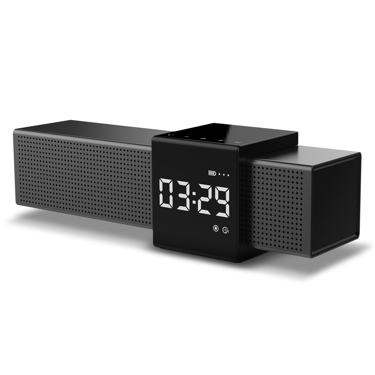 Havit M9 V9.9 Bluetooth Speaker Touch Control Alarm Clock with FM Radio &  Built-in Mic TF Card Function 9000mAh Battery
