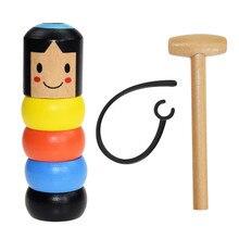 1 Набор, Небьющийся деревянный человек Дарума, волшебная игрушка, фокусы, магический реквизит, комедия, ментализм, забавная игрушка, аксессуар