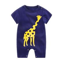 ZWF1051 Summer New Style Short Sleeved Girls Dress Baby Romper Cotton Newborn Body Suit Baby Pajama Boys Animal Rompers 2021 hot