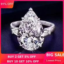 Choucong PROMISE แหวน Pear CUT 8ct AAAAA CZ 925 (China)