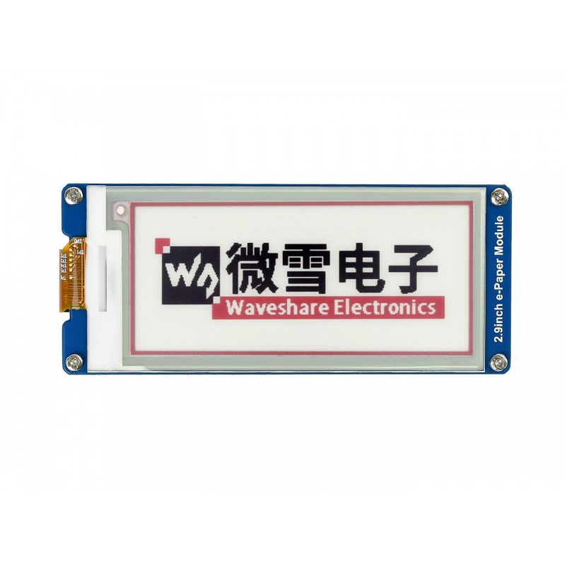 2.9inch E-Ink Display Screen 296x128 E-Paper Module SPI Interface Supports Three-color Wide Viewing Angle, Ultra Low Consumption