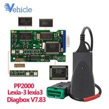 Lexia3 PP2000 с Diagbox V7.83 программное обеспечение для Citroen/peugeot через разъем OBD-II