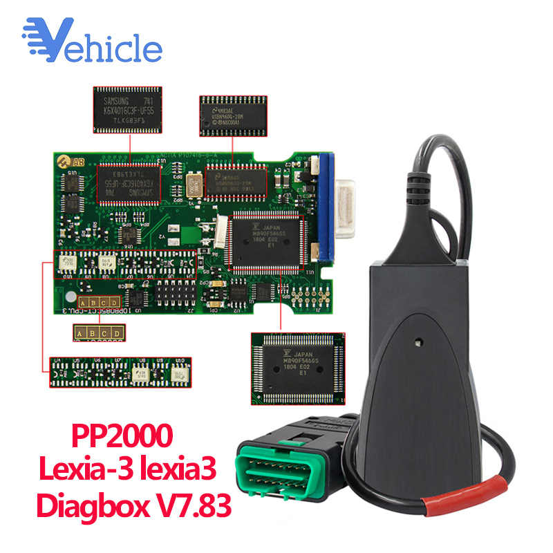 Lexia 3 V7.83 PP2000 Diagnosegerät OBDII Scanner Diagbox Für Citroen Peugeot