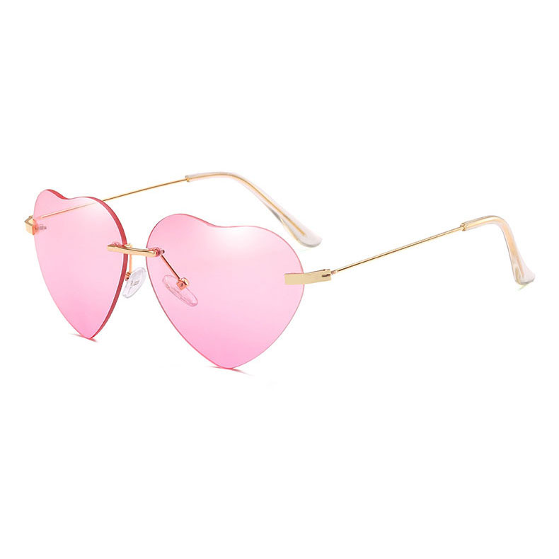 Sweet Heart Sunglasses Pink Blue Black Eyeglasses For Women Kawaii Style 2019 Fashion Design by Ali Express.Com