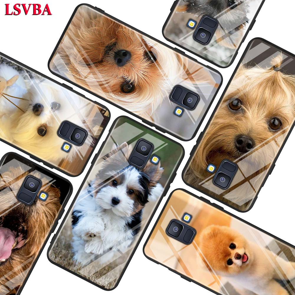 Terrier Yorkie <font><b>Dog</b></font> For <font><b>Samsung</b></font> <font><b>Galaxy</b></font> A750 A9 A8 A7 A6 A5 <font><b>A3</b></font> Plus 2018 <font><b>2017</b></font> 2016 Super Bright Glossy <font><b>Phone</b></font> <font><b>Case</b></font> Cover image