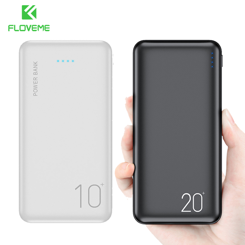 FLOVEME <font><b>Power</b></font> <font><b>Bank</b></font> 10000mAh Portable Charging PowerBank <font><b>20000</b></font> mAh USB PoverBank External Battery Charger For Xiaomi Mi 9 iPhone image