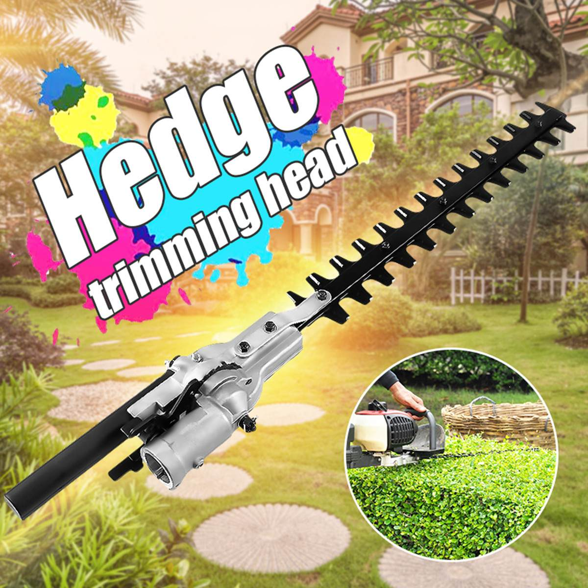 26mm 9 Teeth Pole Hedge Trimmer Bush Cutter Head Grass Trimmers For Garden Multi Tool Pole Chainsaw Garden Power Tools