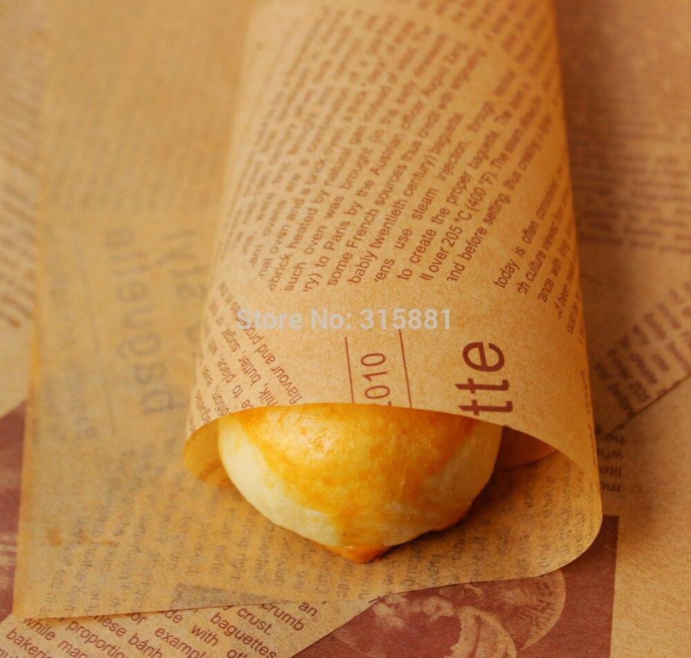 Papier d'emballage alimentaire résistant à la graisse papier de cuisson savon papier d'emballage 200 pcs/lot