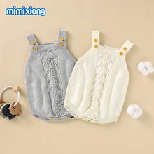 Baby Bodysuits Clothes Spring Autumn Solid Knitted Newborn Boys Girls Onesie Jumpsuits Sleeveless Infant Bebes Knitwear Coverall